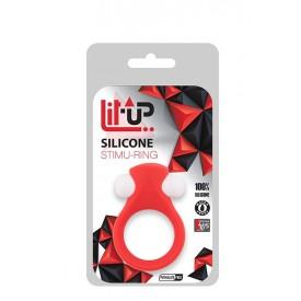 Красное эрекционное кольцо LIT-UP SILICONE STIMU RING 2