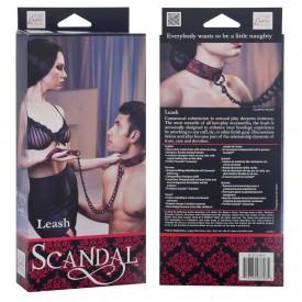 Атласный поводок с цепью Scandal Leash